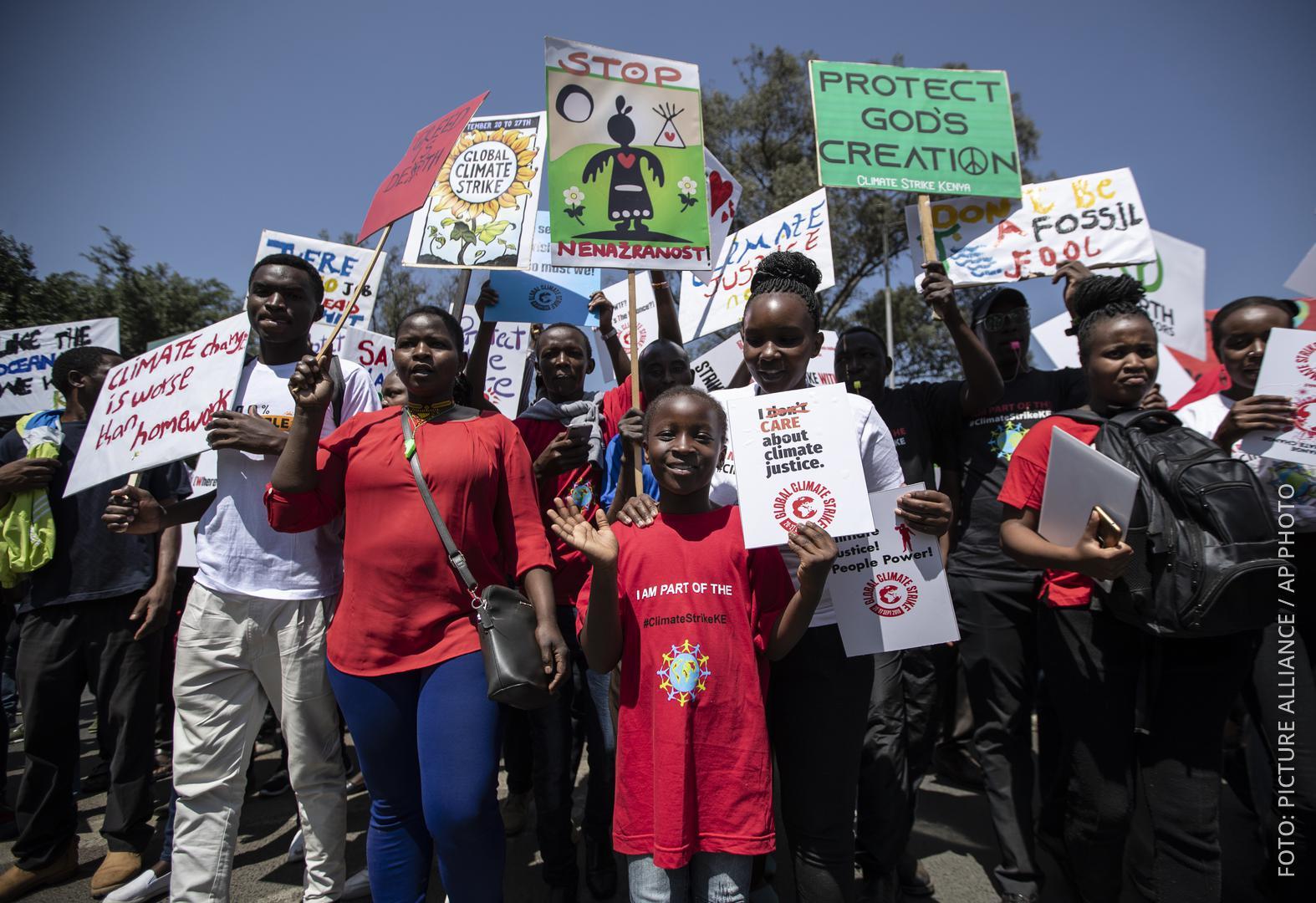 Klimaproteste in Nairobi