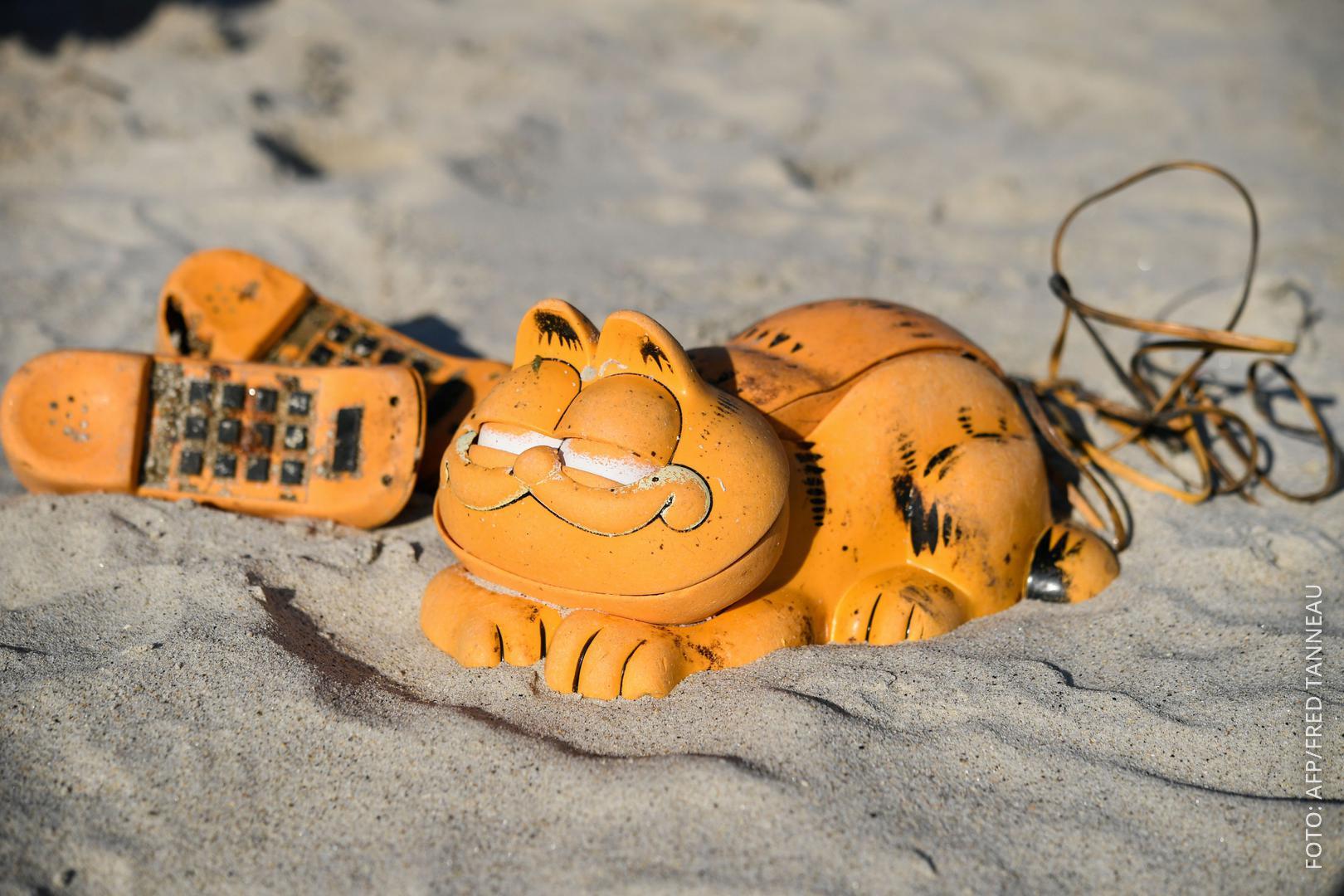 Garfield Telefon am Strand