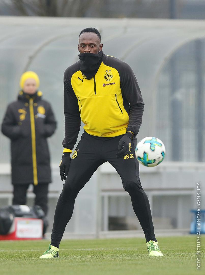 Usain Bolt hat bei Borussia Dortmund mittrainiert.
