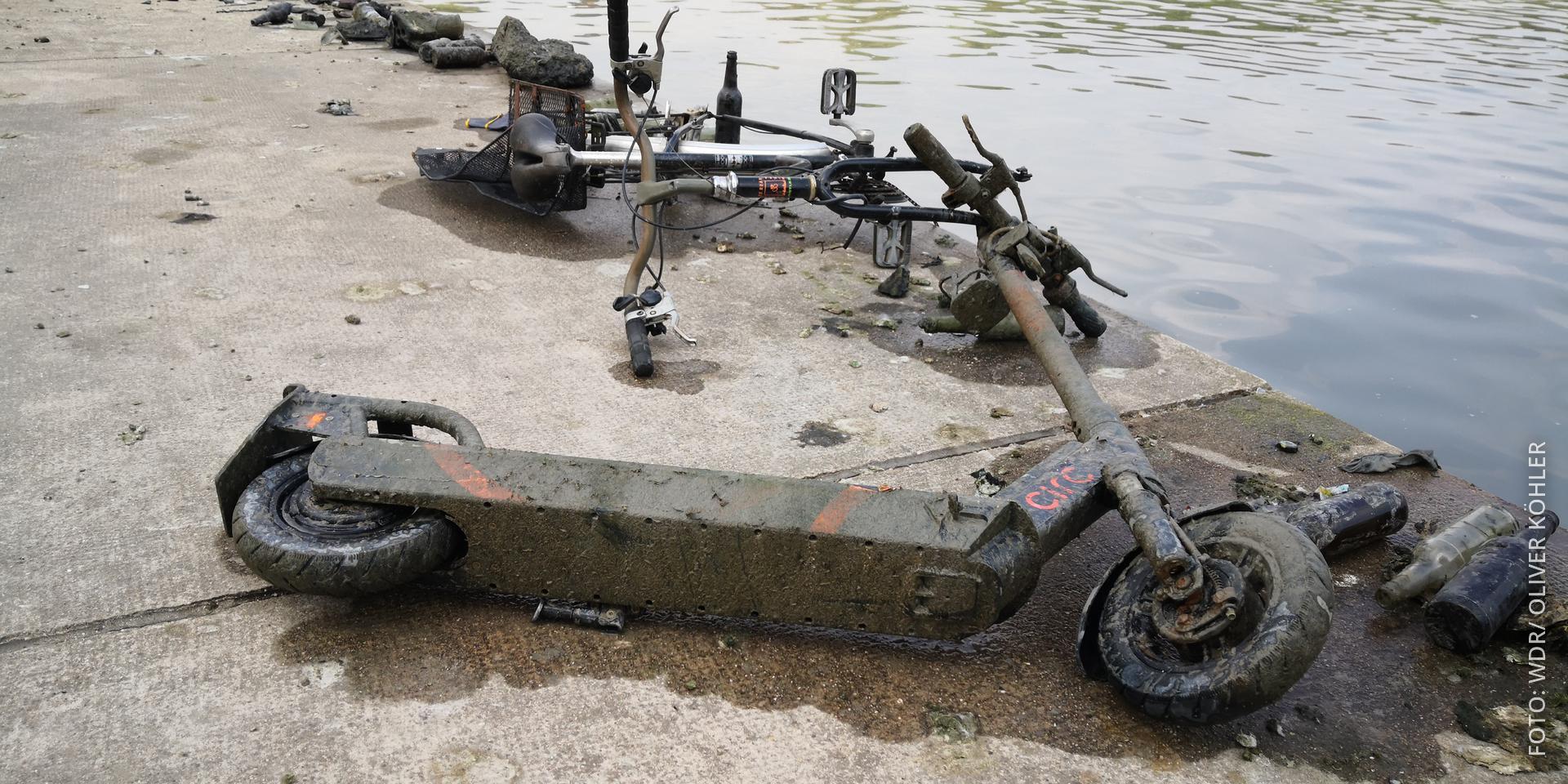Rausgefischte E-Scooter
