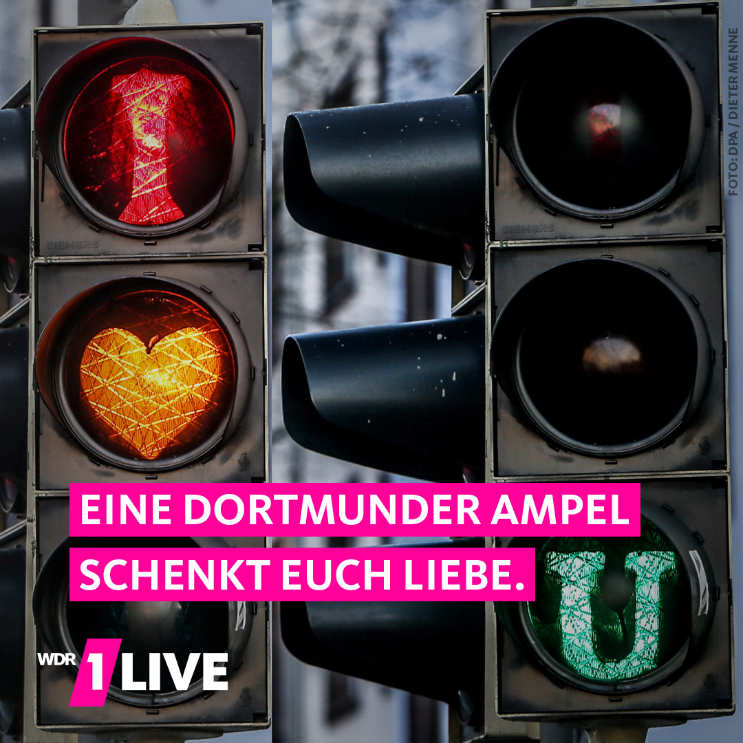 Ampel zeigt: I love you