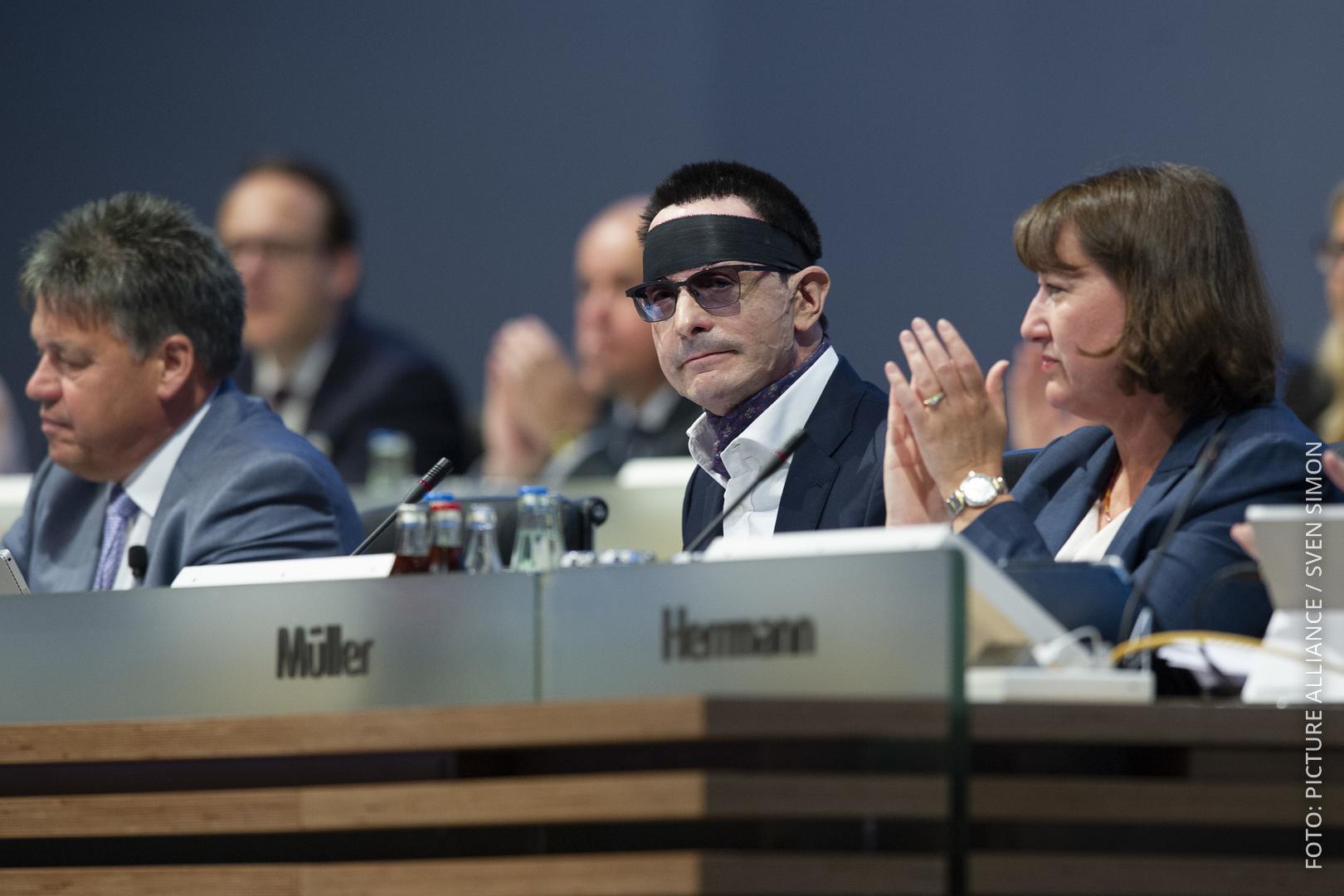 Innogy-Manager Günther bei einer Veranstaltung.