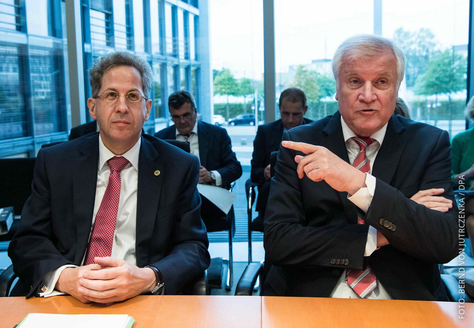 Ex-Verfassungsschutz-Präsident Maaßen und Innenminister Seehofer