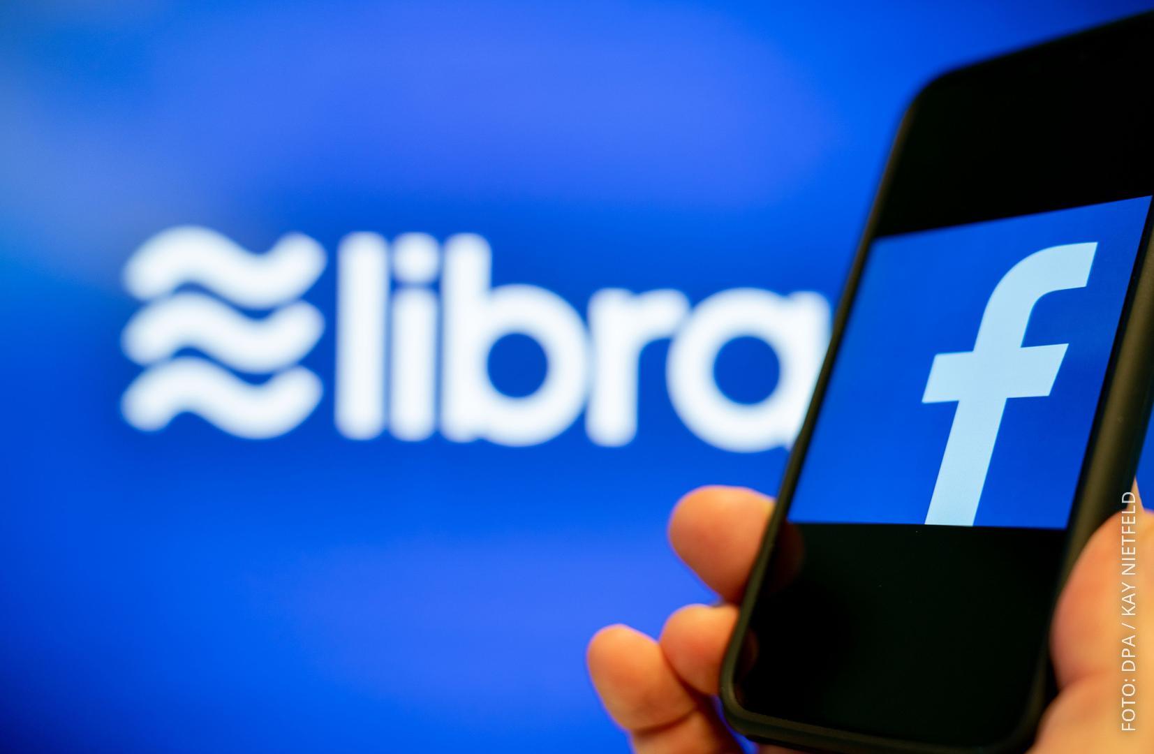 Facebook-Logo und Libra
