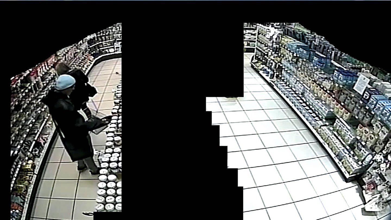 Mutmaßlicher Supermarkt-Erpresser bei der Tat