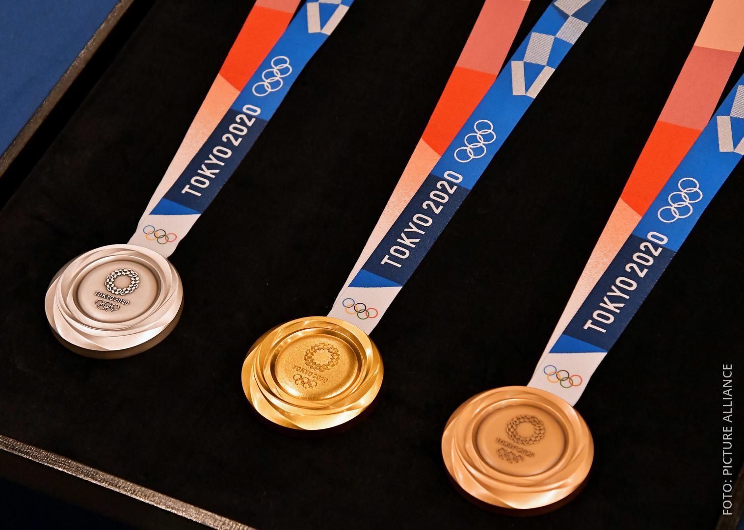 Medaillen für Tokio