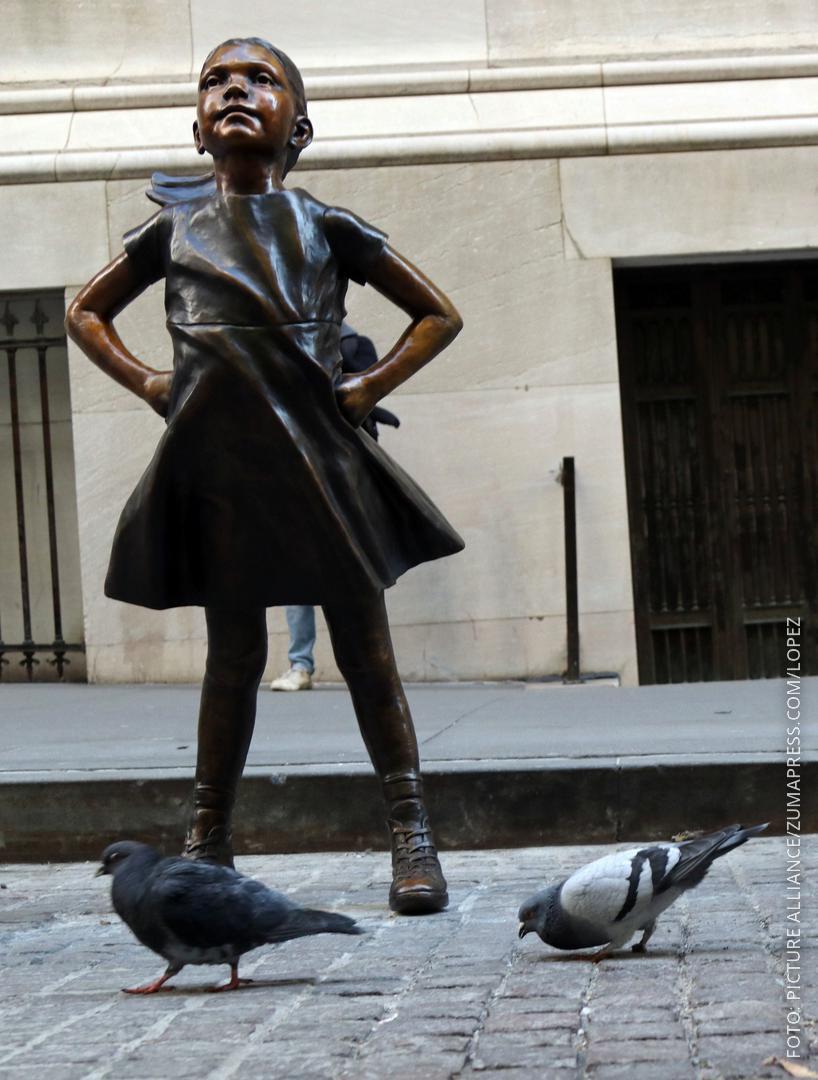 Mädchenstatue vor der New Yorker Börse