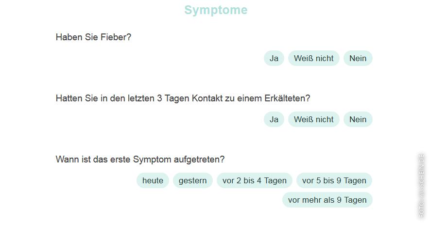 Screenshot von Fragen auf AU-Schein.de