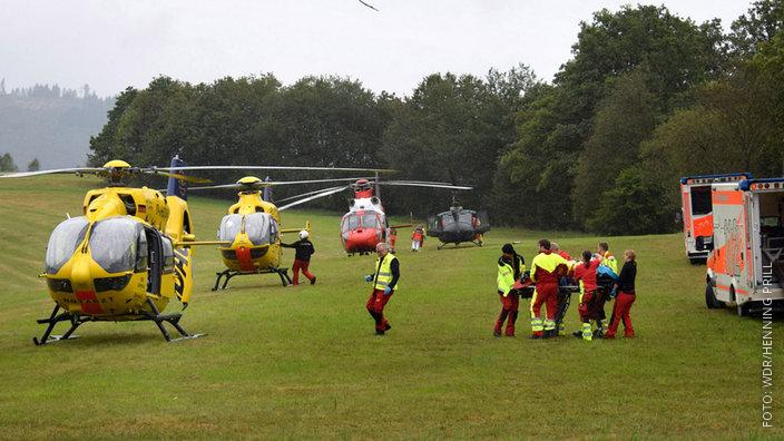 Rettungshubschrauber in Freudenberg