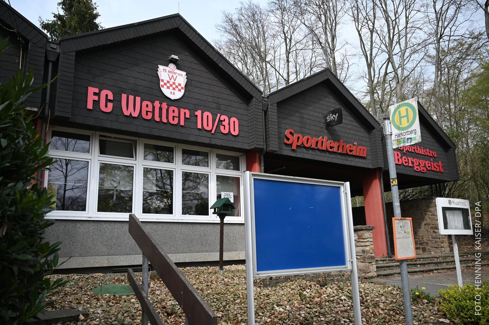 Das Vereinsheim des FC Wetter.