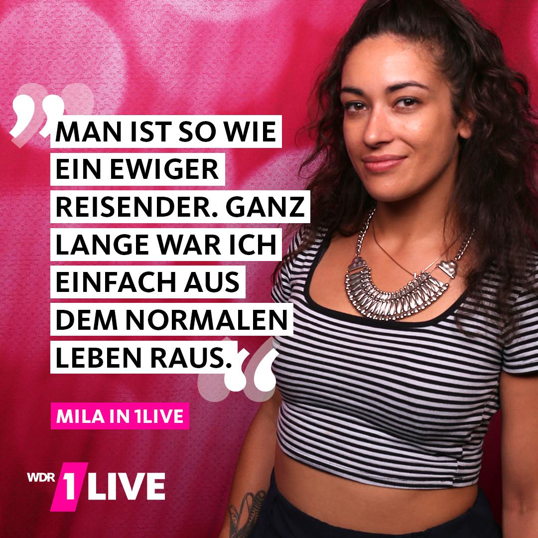 Mila erzählt in 1LIVE von ihrer Zeit als Wohnungslose.
