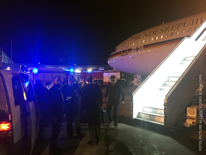 Regierungsmschine am Köln Bonner Flughafen