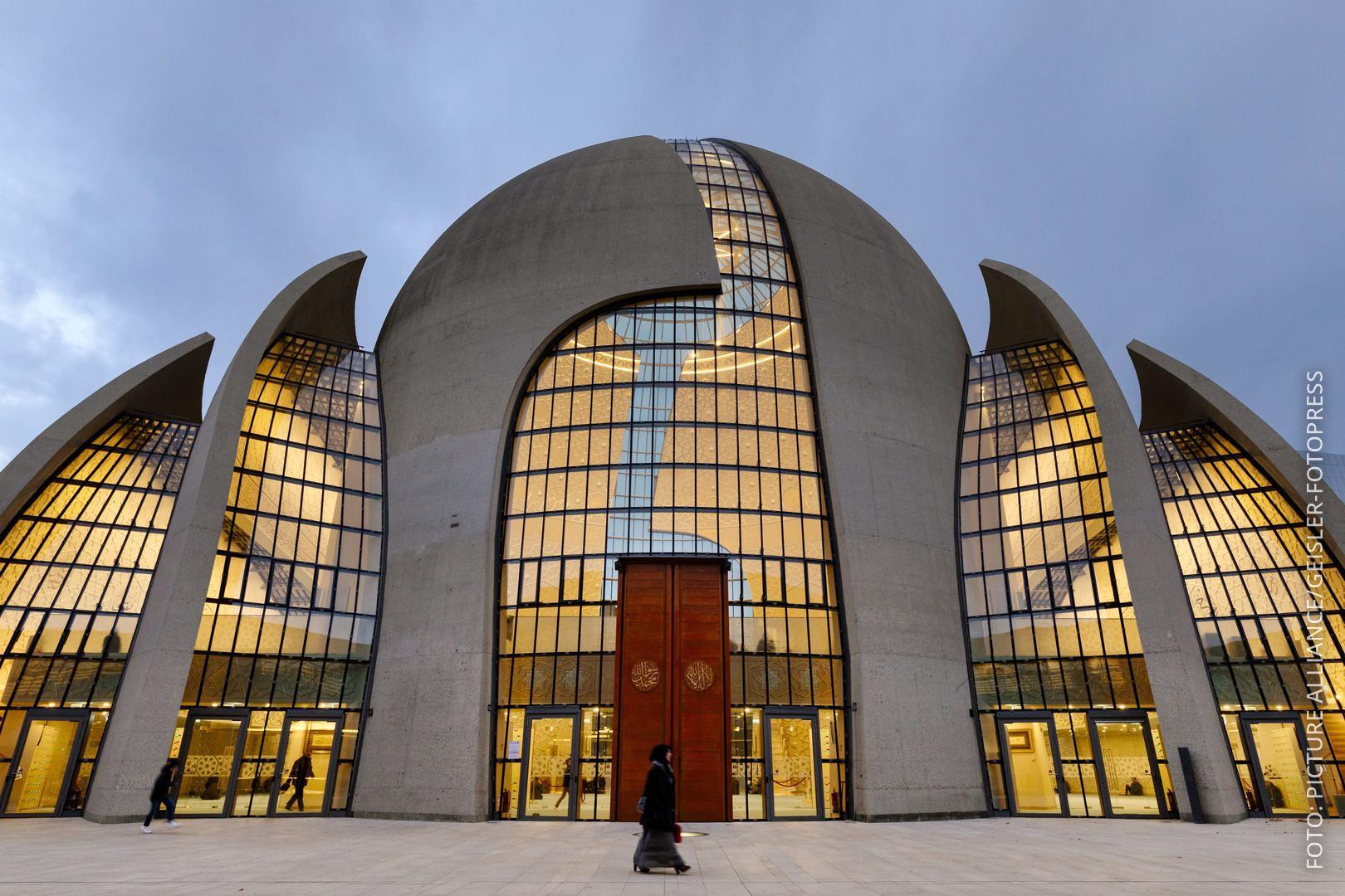 Großaufnahme der Kölner Moschee