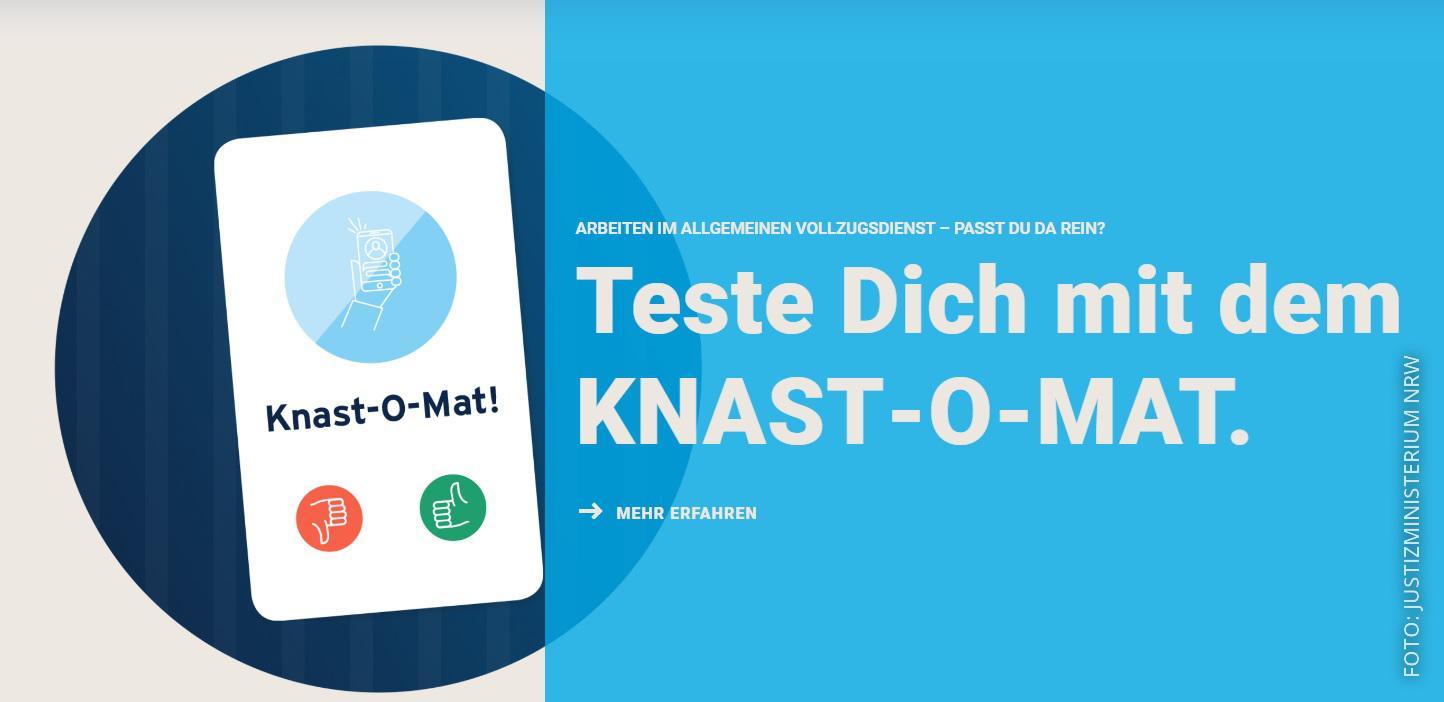Der Knast-O-Mat auf der Webseite der NRW-Justiz