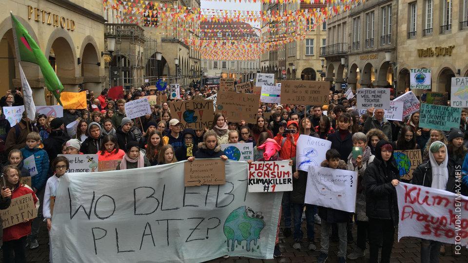 Fridays-For-Future-Demo in Münster mit 1.000 Teilnehmern