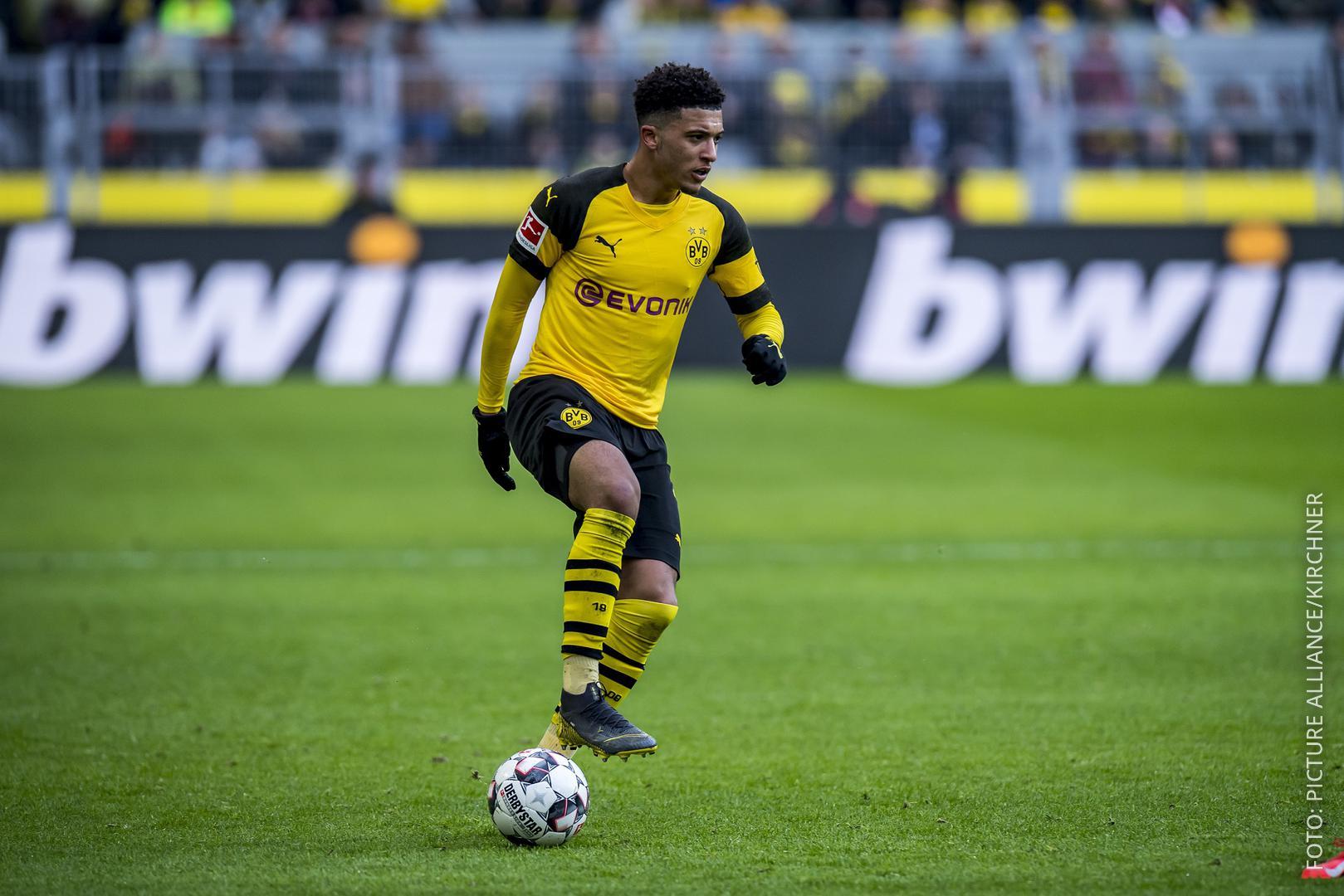 BVB-Spieler Sancho im Dortmunder Stadion