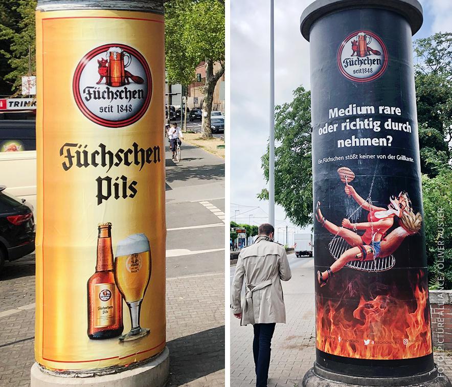 Werbeplakate der Brauerei Füchschen