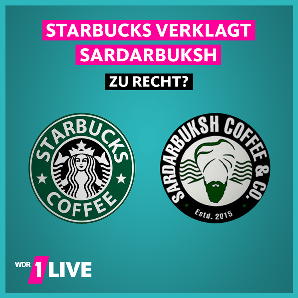 Grafik Starbucks und SardarBuksh-Logo