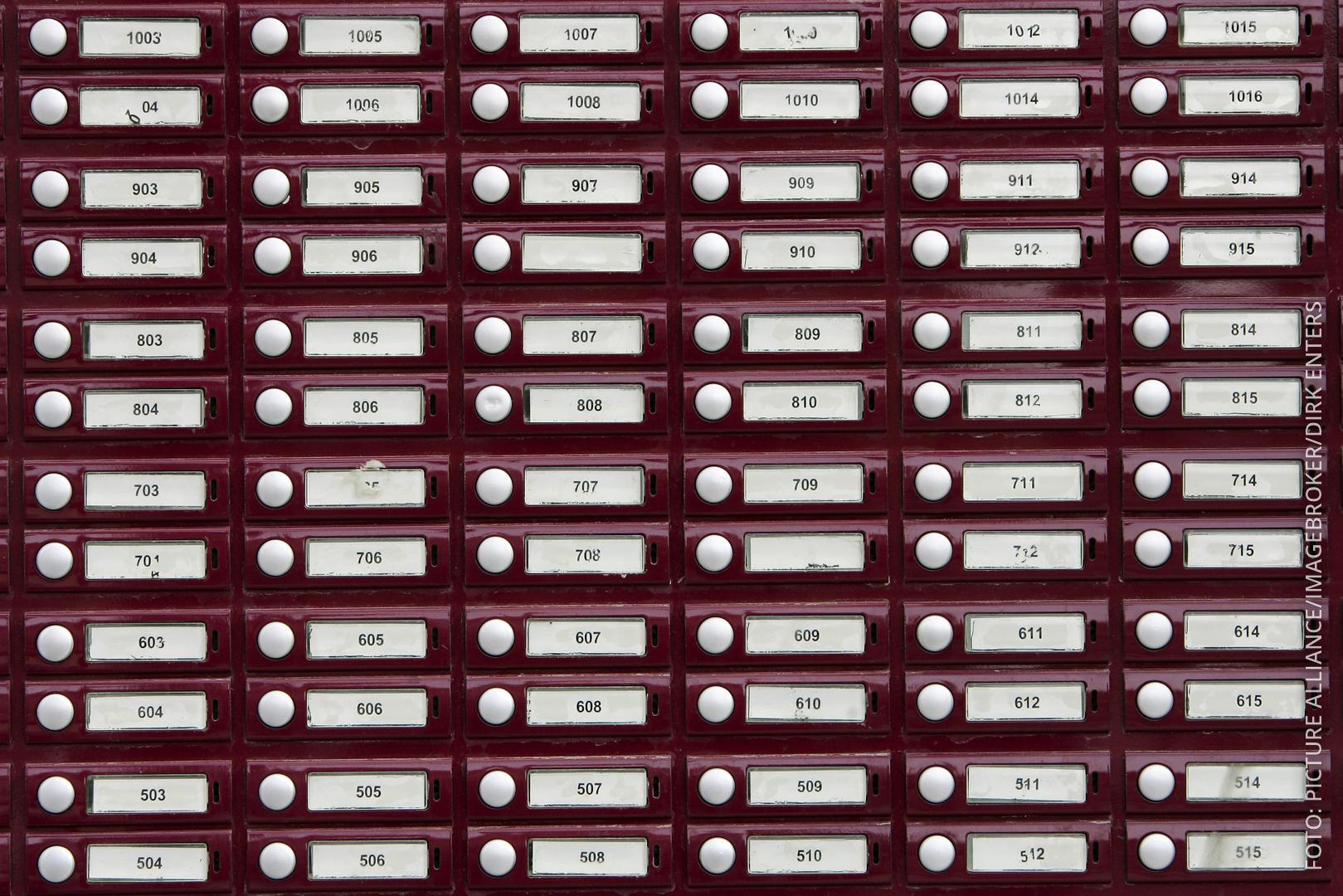 Klingelschilder Nummern