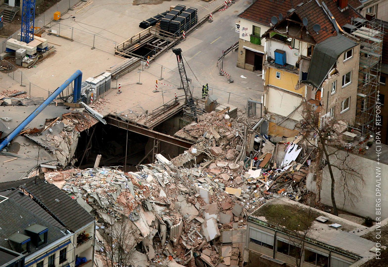 Das eingestürzte Stadtarchiv in Köln