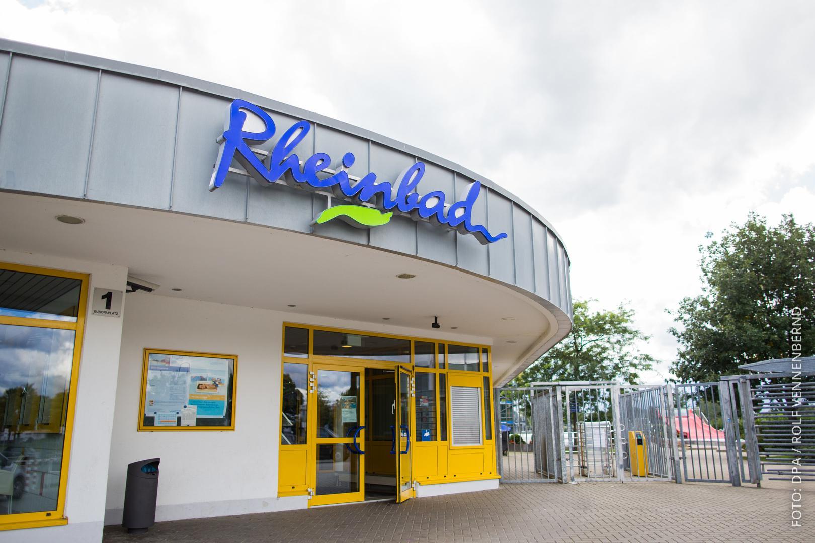 Der Eingang des Düsseldorfer Rheinbads