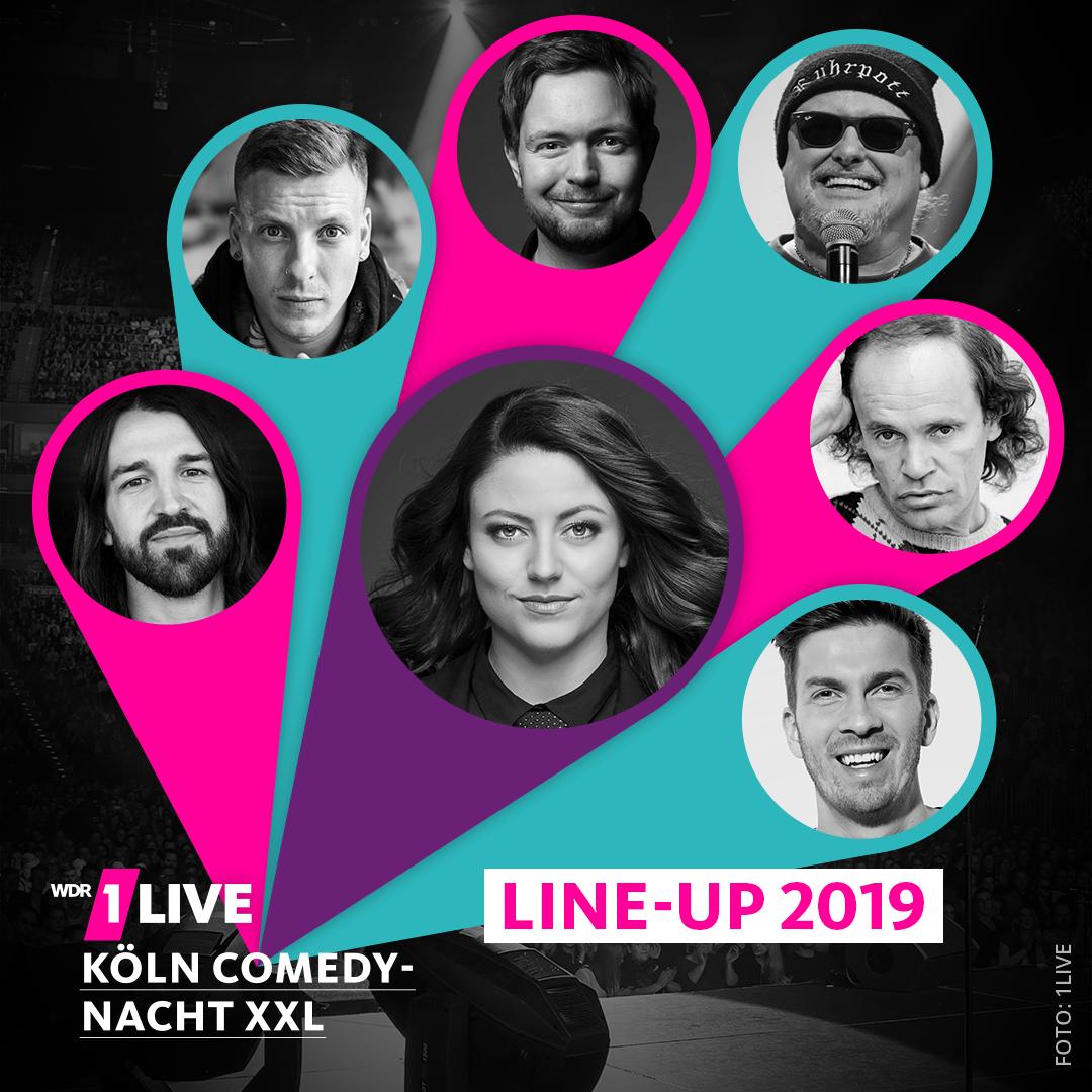 Die Künstler der 1LIVE Köln Comedy-Nacht XXL
