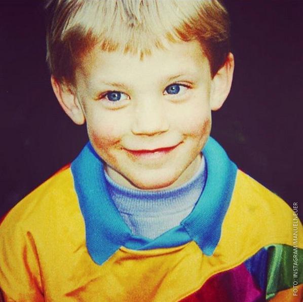 Manuel Neuer mit fünf Jahren.