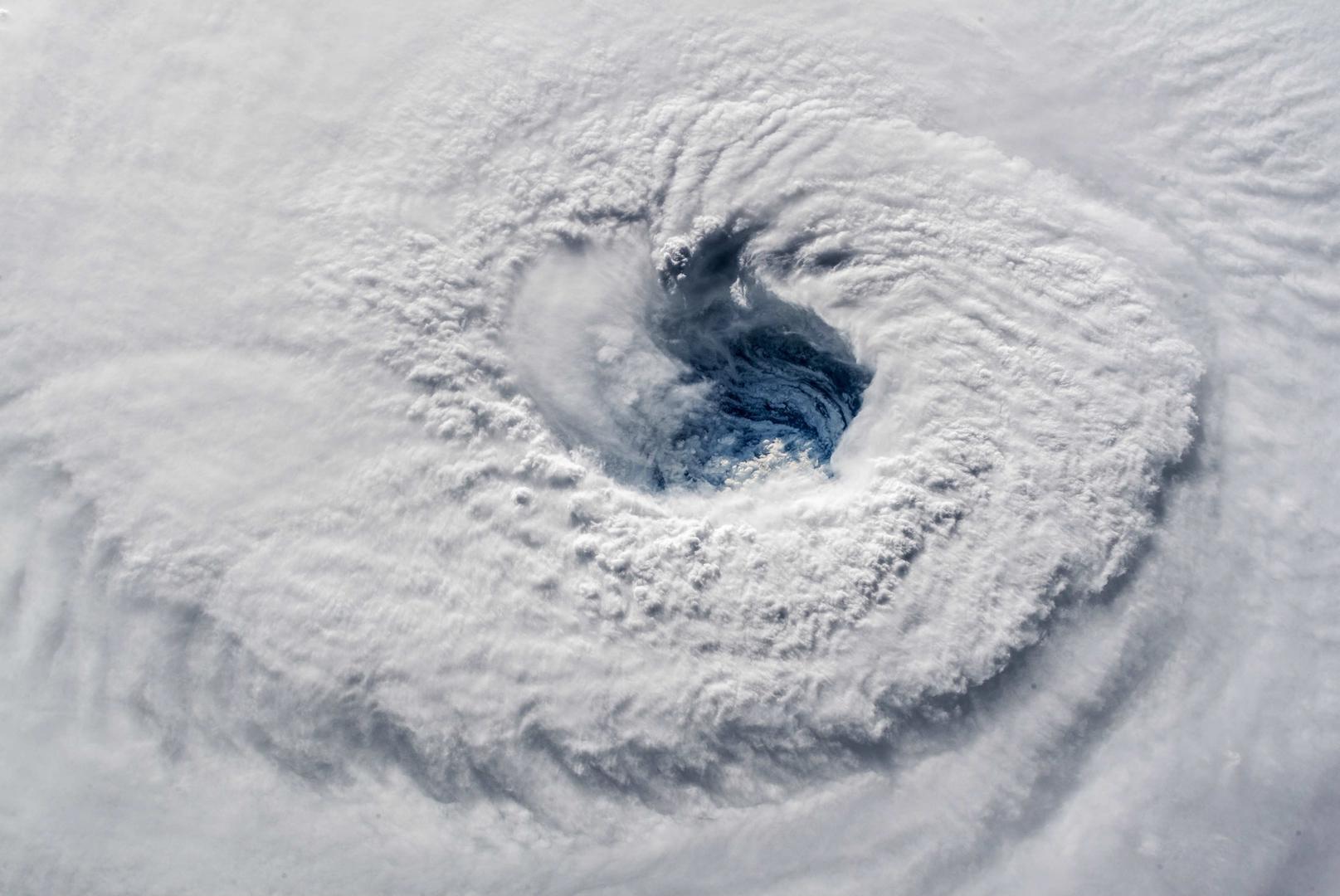 Der Hurrikan Florence vom All aus gesehen