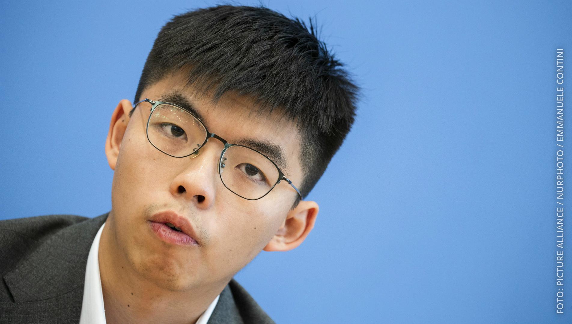 Demokratie-Aktivist Wong aus Hongkong