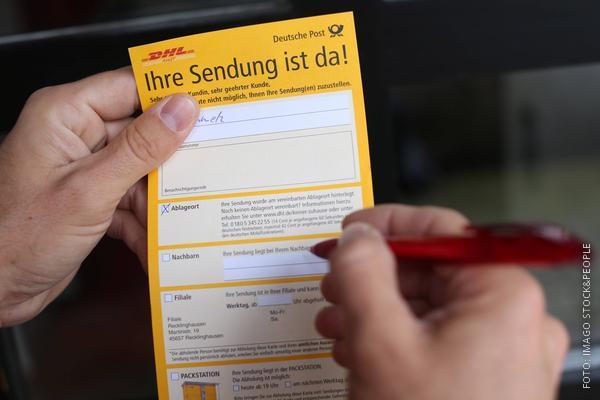 DHL-Benachrichtigungskarte