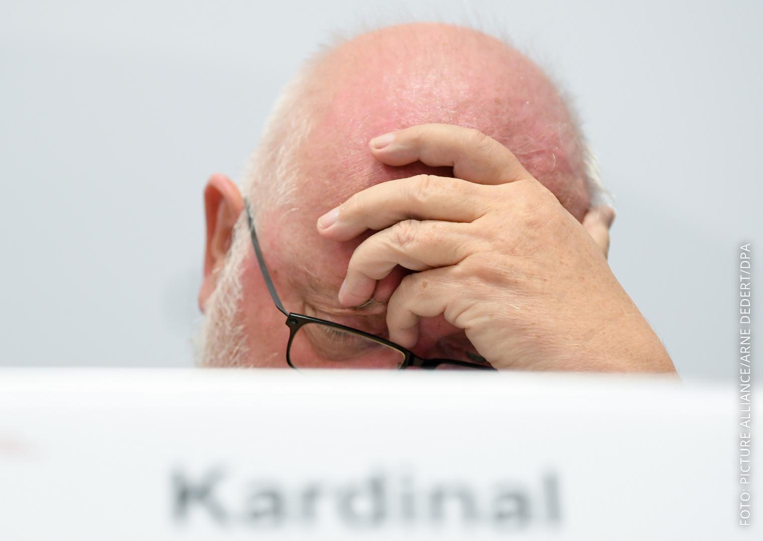 Kardinal Marx bei der Pressekonferenz zur Missbrauchsstudie