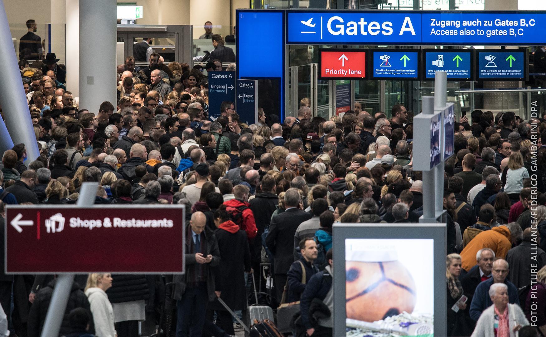 Sicherheitspanne am Düsseldorfer Flughafen