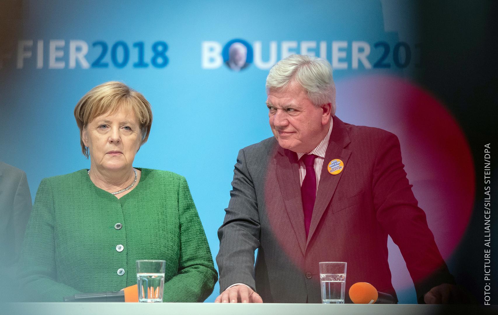 Merkel Bouffier Wahlkampfauftritt