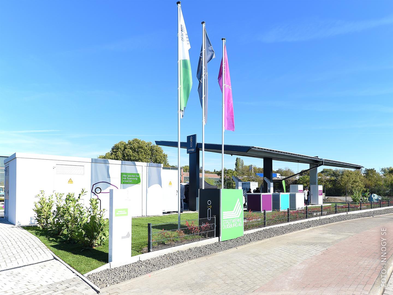 Die neue Stromtankstelle in Duisburg