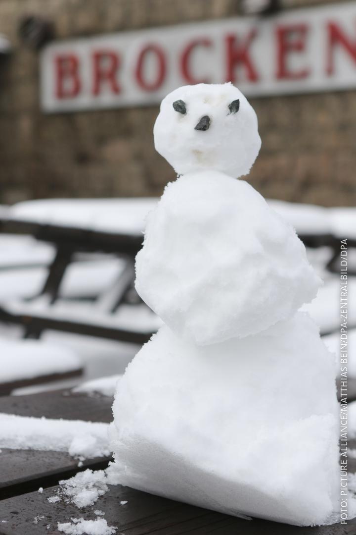 Schneemann auf dem Brocken
