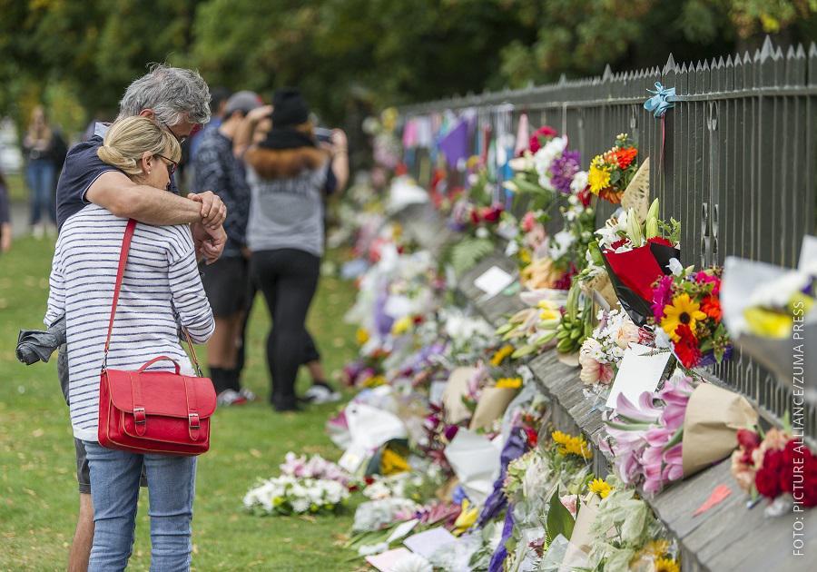 Menschen trauern in Christchurch