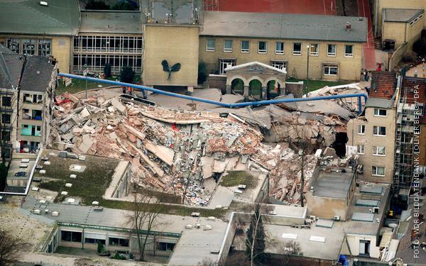 Eingestürztes Stadtarchiv in Köln am 3. März 2009