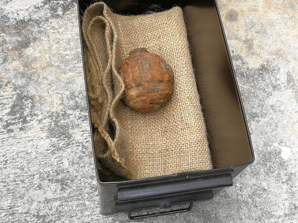 Granate aus dem Ersten Weltkrieg