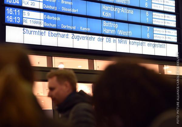 Anzeigetafel Bahnhof