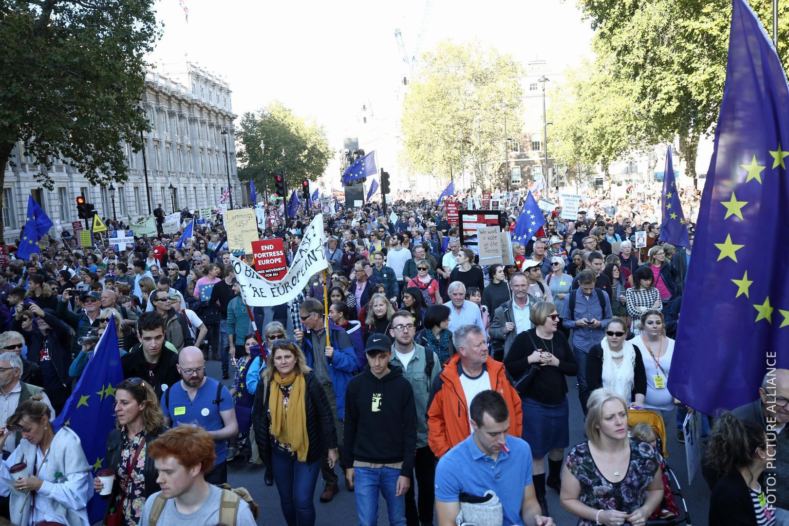 Demonstranten in London