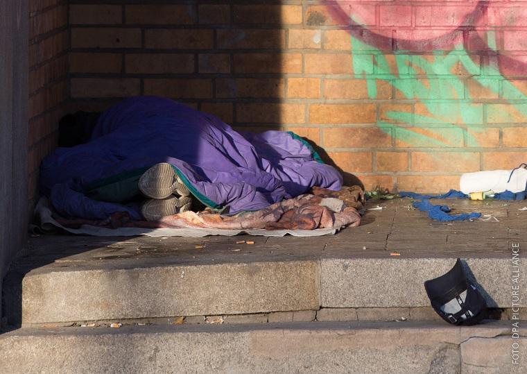 Obdachloser auf der Straße