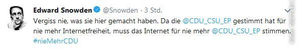 Twitteraccount von Edward Snowden