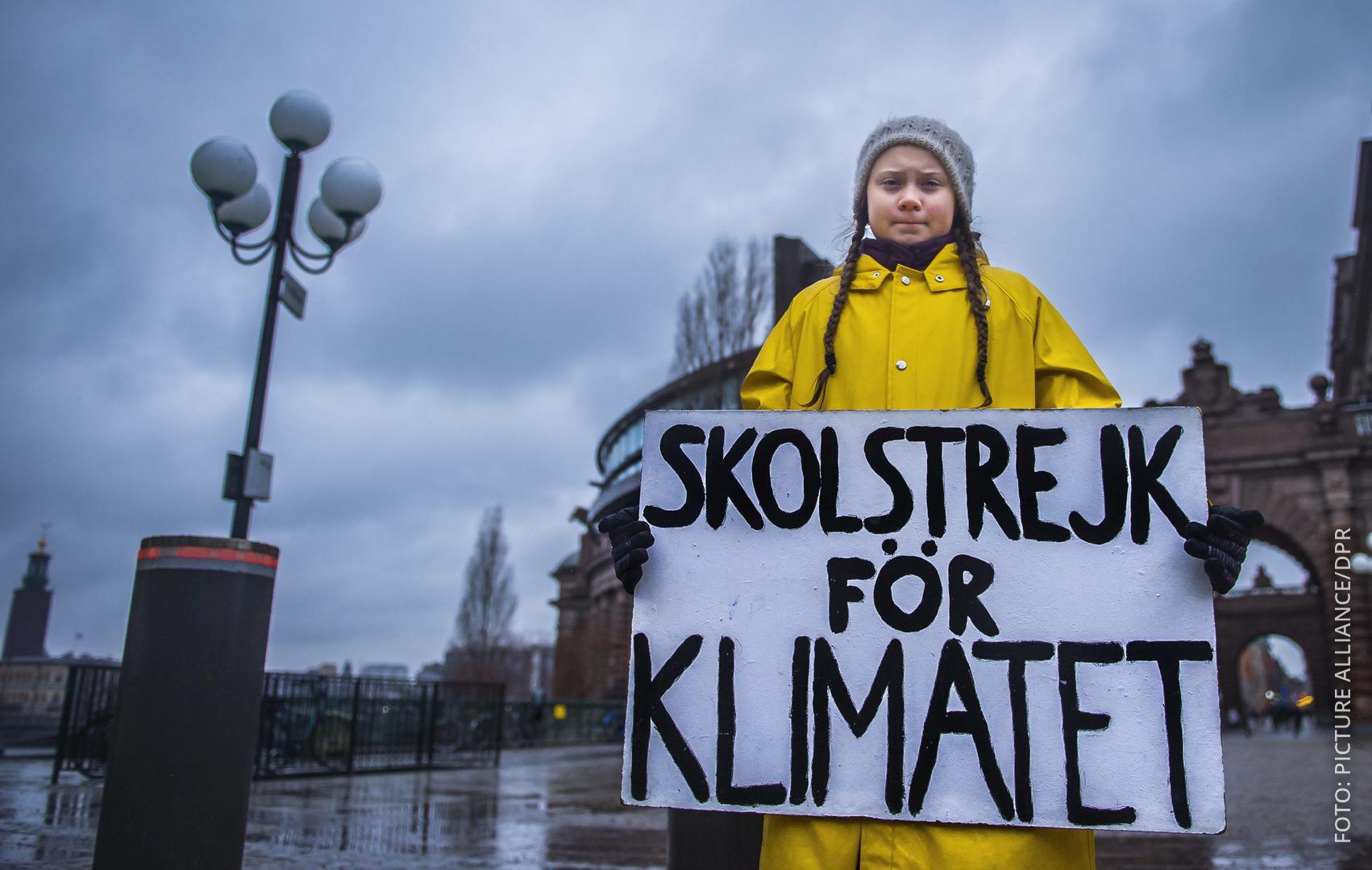 Greta Thunberg bei einer Klimaschutz-Demo