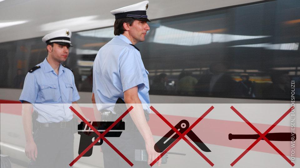 Bundespolizisten am Bahnhof