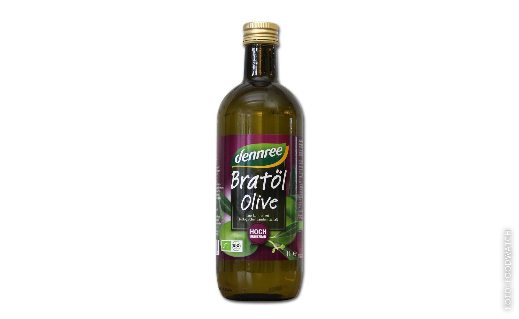 Flasche Olivenöl vom Biohersteller