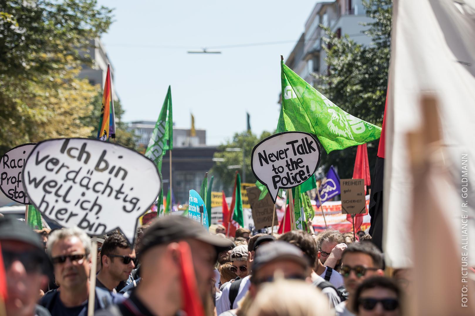 Demonstration - Nein zum neuen Polizeigesetz NRW! - am 07. Juli 2018 in Düsseldorf.