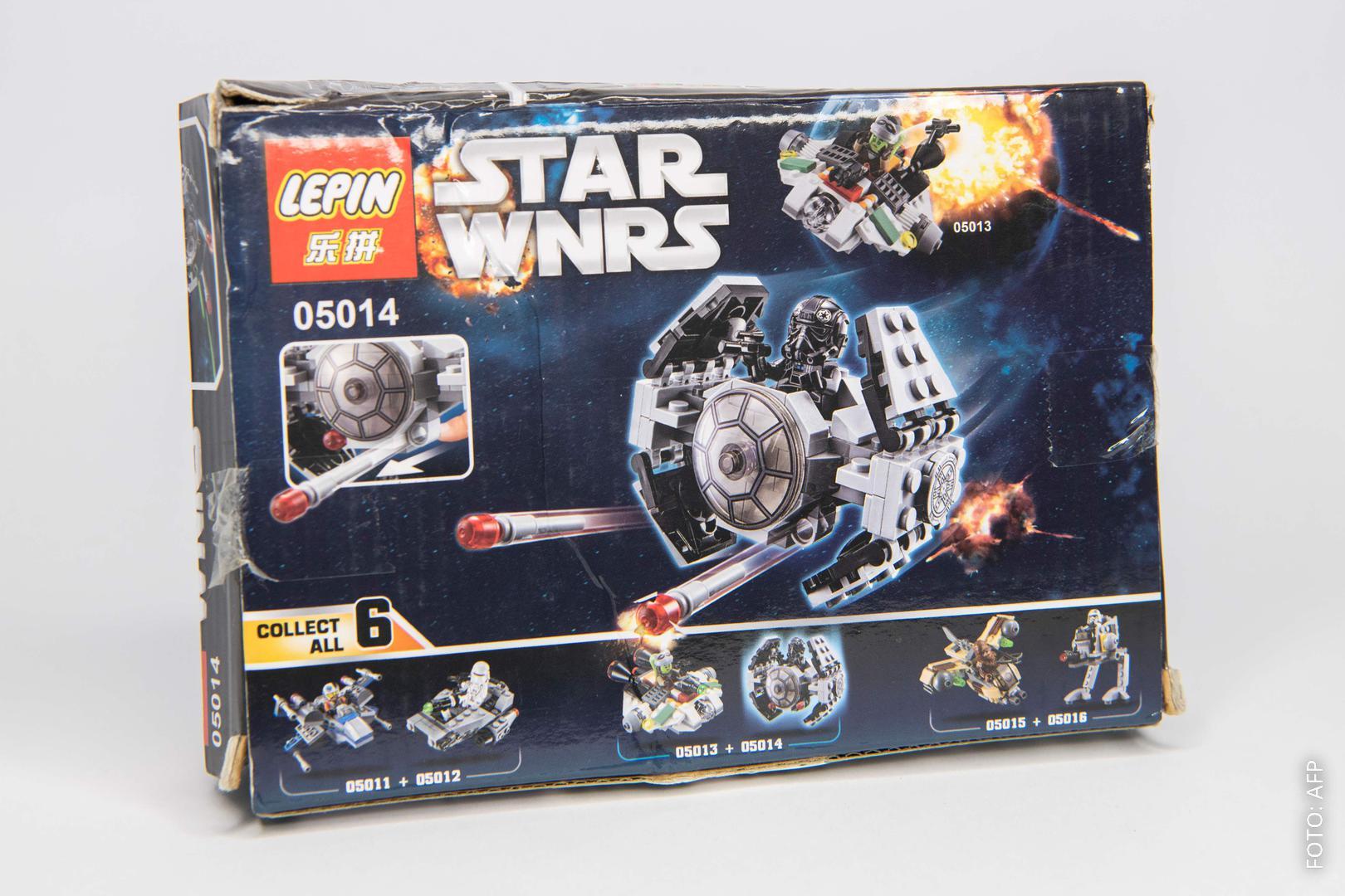Eine Spiele-Verpackung der Firma Lepin, die der von Lego extrem ähnlich sieht.