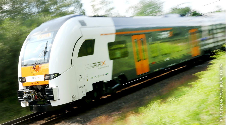 Ein RXX ist auf einer Siemens-Teststrecke unterwegs