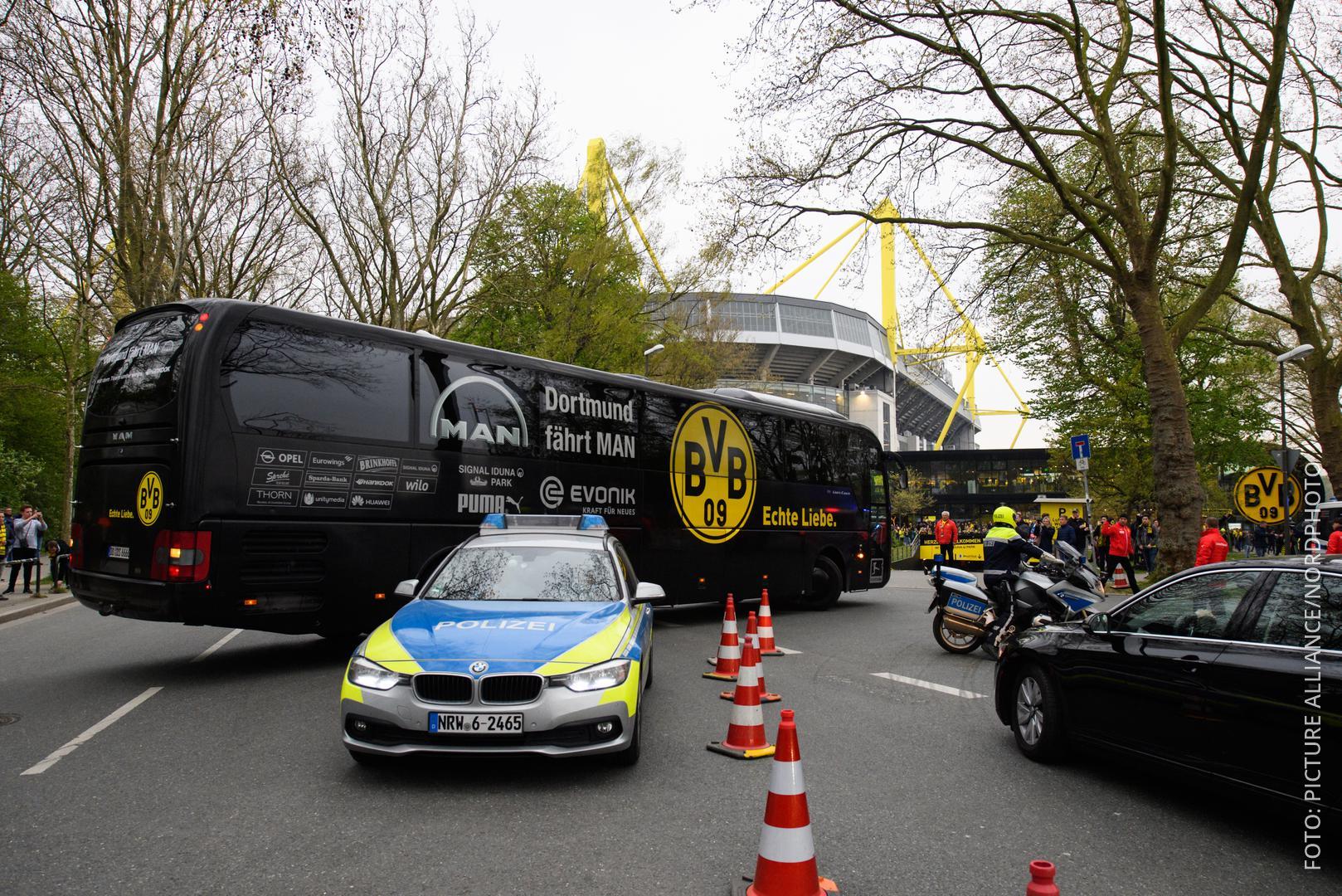 BVB-Bus nach dem Anschlag im April
