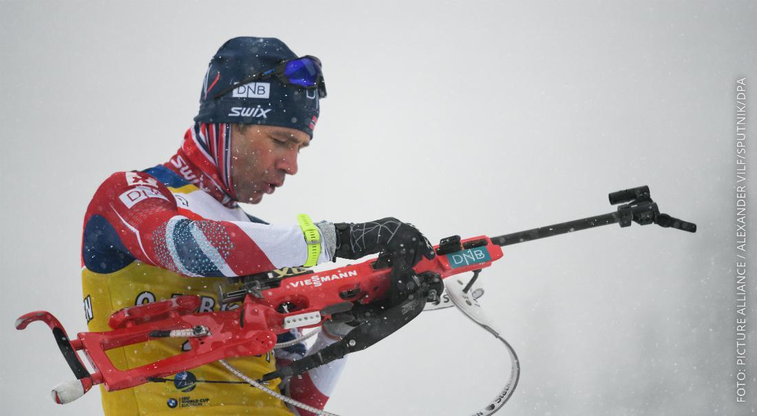 Der Biathlet Ole Einar Björndalen